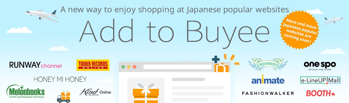 Add to Buyee | Easier shopping experience with Buyee / on more popular online stores!