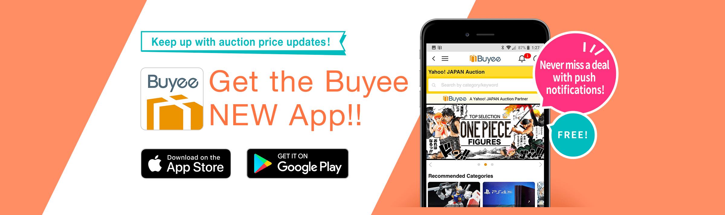 Get the Buyee NEW App!!